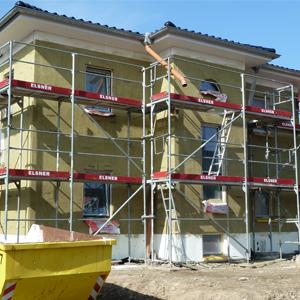 WDVS mit Mineralwolle bei einem Einfamilienhaus in Lengefeld