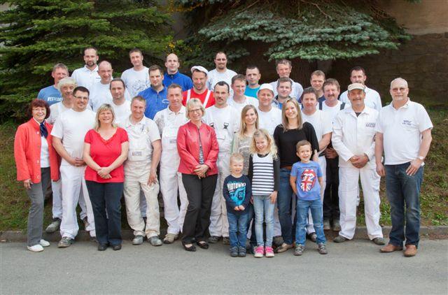 Gruppenfoto unserer Belegschaft zum 25-jähigen Jubiläumn